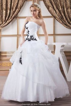 Best 30 White Wedding Dress With Black Embroidery