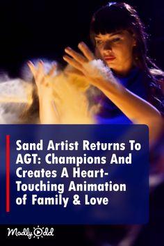 Sand Artist Kseniya Simonova Returns For AGT Finals And Creates Powerful Animated Masterpiece America's Got Talent Videos, Talent Show, Music Songs, Music Videos, Nova Tv, Best Songs, Awesome Songs, Britain Got Talent, Show Dance