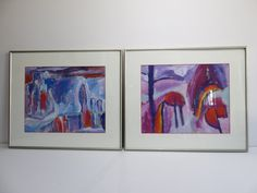 Two Pieces Of Abstract Art By Russian Artist Signed Rustim Malik 1992. by FLORIDAMODERN on Etsy