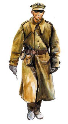 Oficial polaco de la 4ª División de Infantería, John Kilinskiego. Jastrowie, Pomerania, febrero de 1945.