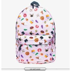 Sweet cats Galaxy junk food 3d back pack school bag book bag fashion... (41875 IQD) ❤ liked on Polyvore featuring bags, backpacks, backpacks bags, pattern bag, planet bags, lightweight backpack and cat bag