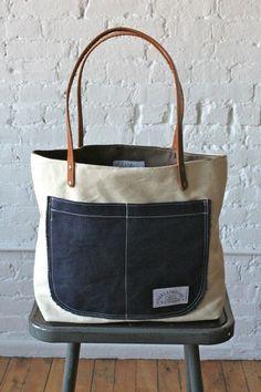 WWII era US Navy Sea Bag Pocket Tote Bag - FORESTBOUND