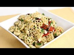 Mediterranean Pasta Salad Recipe - Laura Vitale - Laura in the Kitchen Episode 788 - YouTube
