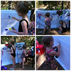 "Make a giant canvas with a sheet ("",)"