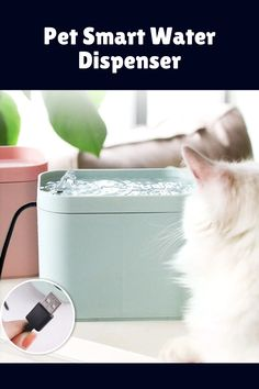 Have you noticed your pet drinking a lot when the water is fresh, but totally ignoring water that's been there for hours? Some pets—especially cats—hate the taste of stagnant water. Our pet smart water dispenser will solve this issue. This smart device inspires your pet to drink more water, keeping her safe and hydrated. #petwaterdispenser #petwaterdispenserdiy #petwaterdispenserideas #petwaterdispenserdesign #automaticpetwaterdispenser #diypetwaterdispenser #automaticpetwaterdispense Pet Water Fountain, Drink More Water, Water Spray, Water Dispenser, Control Valves, Smart Water, Diy Stuffed Animals, Water Tank, Drinking