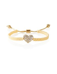 Pavé' Heart Friendship Bracelet from THELIMITED.com #TheLimited