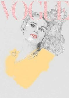 Illustrated Vogue Covers - Hazel Castle Renders Magazine Images in Her Distinct Sketchy Style (GALLERY)