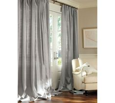 Light Control (lined drapes) Dupioni silk drapes from pottery barn Get on my windows now!!
