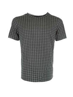 T-Shirts : T-SHIRT STAMPA PIED-DE-POULE