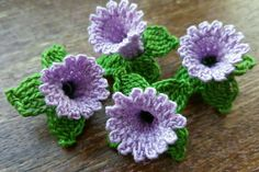 Handmade by myself using quality cotton yarn  Each flower measures approx 4x3cm    Other colours available   Thanks for looking! | eBay!