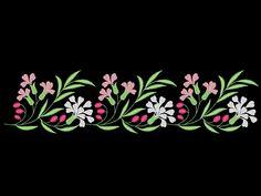 Carnations Vintage Regency Dress Edging Hem Embroidery Machine Design by OCDEmbroidery on Etsy Hand Embroidery Patterns Flowers, Hand Embroidery Flowers, Embroidery Suits Design, Flower Embroidery Designs, Embroidery Motifs, Machine Embroidery Patterns, Crazy Quilt Stitches, Regency Dress, Stencil Designs