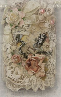 Memories Book, Fabric Book,Mixmedia,Lace Book,Collage Book, Scrapbook,Premade Page, Album,Alite4u , Cotton Lace, Satin Ribbon Off White Lace , Embellishment Kit *** by khatsart http://www.ebay.com/sch/merchant/khatsart47