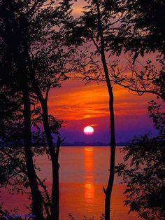 Sunset.  Mare, Italy