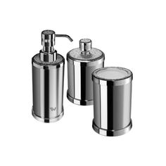 Starlight Bathroom Accessories Set W/ Swarovski - 3 Piece. Available in Chrome or Gold. Made of Brass with Swarovski crystal elements inlaid at the top. Give your bathroom a complete makeover with the Starlight Bathroom Accessories Set. Created to bring everlasting beauty; this simple and luxurious set is designed to increase the level of elegance in your bathroom. Manufactured in Spain.