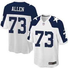 Nike Game Larry Allen White Men s Jersey - Dallas Cowboys  73 NFL Throwback  Alternate Dallas 942c41550