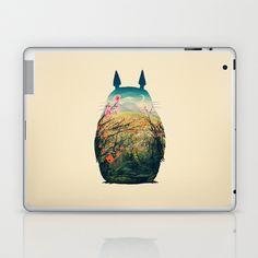Tonari no Totoro Laptop & iPad Skin by Victor Vercesi - $25.00