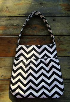 Large Chevron Bag  Chevron Hobo Bag  Chevron by LittleFootBoutique, $68.00