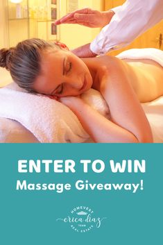 Enter to win our massage giveaway! Only a few days left to enter to win! Florida Living, Enter To Win, Central Florida, Winter Garden, Orange County, Orlando, Giveaway, Massage, Real Estate