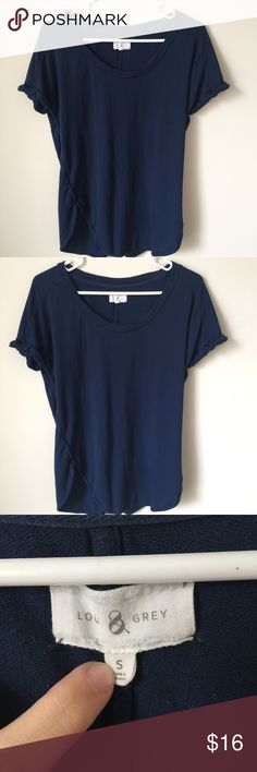 Lou & Grey Lounge Top size Small Casual navy blue size small t shirt Lou & Grey Tops Tees - Short Sleeve