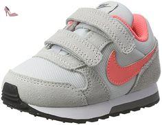Nike Md Runner 2 (Tdv), Chaussures de Tennis Fille, Gris (Pure Platinum / Lava Glow / Cool Grey / White), 25 EU - Chaussures nike (*Partner-Link)