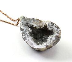 Raw Stone Necklace. Found here:http://www.etsy.com/treasury/OTg5MzY4OHwyNzIwNjc5Mjc1/rising-moonorhttp://www.etsy.com/listing/98437178/raw-stone-necklace-druzy-necklace-oco?ref=tre-2720679275-5#681team