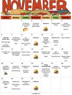 november 2016 menu