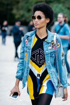 patch denim jacket paired with motorcross t-shirt || Saved by Gabby Fincham ||