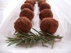 Rosemary Truffles - Love these *Infuse cream with lemon as well*