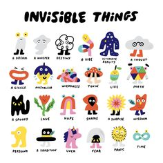 Invisible Things Illustration by Andy J Pizza Art And Illustration, Illustration Inspiration, Icon Illustrations, Posca Art, Art Plastique, Wall Collage, Cute Art, Art Inspo, Art Reference