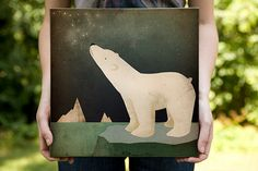 POLAR BEAR CONSTELLATION  Graphic Art by nativevermont on Etsy, $79.00