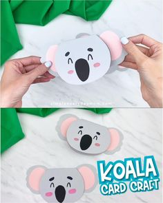 If you need an easy Mothers day card for kids to make, this homemade koala craft is perfect! Tell Mom, Grandma, or Aunt Halloween Crafts For Toddlers, Animal Crafts For Kids, Winter Crafts For Kids, Easy Crafts For Kids, Craft Activities For Kids, Homemade Birthday Cards, Birthday Cards For Mom, Homemade Cards, Koala Craft