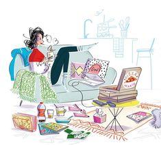 Illustration Mignonne, Illustration Girl, Bd Art, Dots Candy, Sparks Joy, Inspirational Artwork, Naive Art, Cute Disney, Art Sketchbook