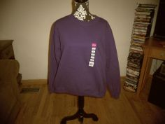 Gildan Ladies'  Heavy Blend™ 50/50 Fleece Crew Purple #Fashion #Style #Deal