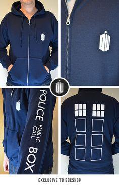 Get 10% off TARDIS Zip Up Hoodie (BBC Shop Exclusive)