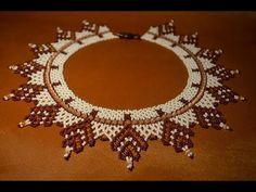 """Колье из бисера """"Осеннее"""". Бисероплетение. Мастер класс / Necklaces of beads…"""