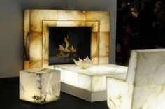 Indoor and Outdoor Alabaster Furnishings That Glow From Within.