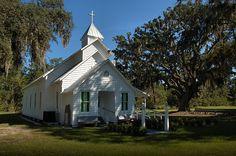 Hog Hammock McIntosh County St. Luke Baptist Church. One of two Baptist Churches on Sapelo Island.