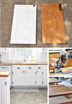 Update Kitchen Cabinets for Cheap | Shaker style cabinet doors ... on