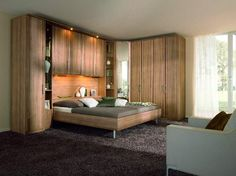King Size Bed With Storage And Side Towers