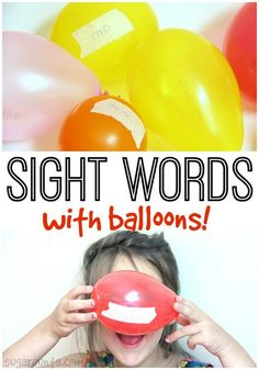 Practice sight words using balloons! This is great for creative learning in Kindergarten and first grade.