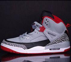 Best Sneakers :    Jordan Spiz'ike – Wolf Grey / Gym Red – Black  - #Sneakers https://talkfashion.net/shoes/sneakers/best-sneakers-jordan-spizike-wolf-grey-gym-red-black/