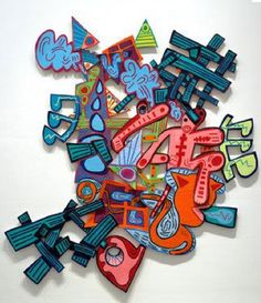 Elizabeth Murray The Sun and the Moon 2005 oil on canvas on wood, x x Courtesy PaceWildenstein Abstract Sculpture, Abstract Art, 8th Grade Art, Sixth Grade, Famous Art, Art Institute Of Chicago, Art Abstrait, Art Plastique, Art Lessons
