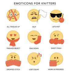 Emoticons for Knitters