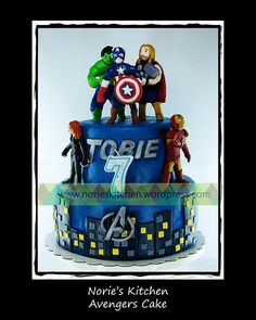 Norie's Kitchen - Avengers Cake by Norie's Kitchen, via Flickr