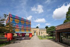 Image 1 of 21 from gallery of The Colour Palace Pavilion / Pricegore + Yinka Ilori. Photograph by Adam Scott Architecture Today, Historical Architecture, Dulwich Picture Gallery, African Traditions, Timber Structure, Construction Cost, Galleries In London, Site Plans, African Art