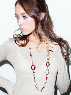 Yevs ランダムパーツネックレス / Asymmetric Styled Necklaces on ShopStyle