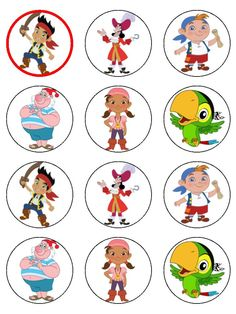 Jake & the Never Land Pirates Cup Cake Toppers