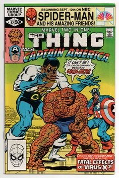 Marvel Two in One 82 FNVF Wilson Thing Captain America Super Bright   eBay