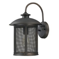 Capital Lighting 9612OB - Dylan 1 Light Outdoor Wall Lantern, Old Bronze