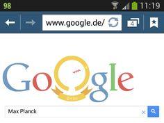 Endlich gibts mal wieder ein Google-Doodle. :-) Google Doodles, Physicist, Landing Pages